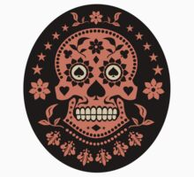 Mexican Day of the Dead Sugar Skull Stickers by TropicalToad