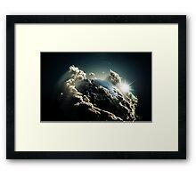 Earth vs Space Framed Print