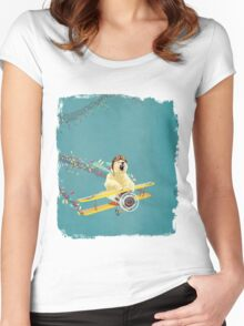 Bear likes Candy Women's Fitted Scoop T-Shirt