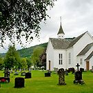 The church of Ulvik - Norway by Arie Koene