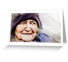 Senility Smile Greeting Card