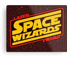 LASER SWORD SPACE WIZARDS Metal Print