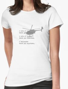 A Mile of Roads Womens Fitted T-Shirt