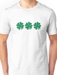 Three shamrocks Unisex T-Shirt