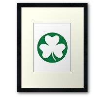 Shamrock St. Patricks day Framed Print