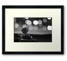 Dashboard Dongle. Framed Print