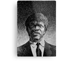 Jules Winnfield portrait - Fingerprint drawing Metal Print