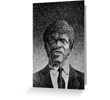 Jules Winnfield portrait - Fingerprint drawing Greeting Card