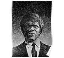 Jules Winnfield portrait - Fingerprint drawing Poster