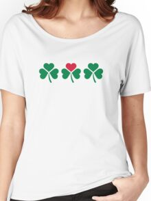 Shamrock red hearts Women's Relaxed Fit T-Shirt