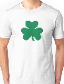 Green pixel shamrock Unisex T-Shirt