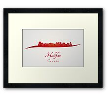 Halifax skyline in red Framed Print