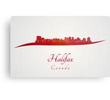 Halifax skyline in red Metal Print