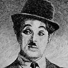Charlie Chaplin portrait - Fingerprint drawing by nicolasjolly