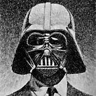 Darth Vader portrait - Fingerprint drawing by nicolasjolly