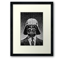 Darth Vader portrait - Fingerprint drawing Framed Print