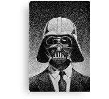 Darth Vader portrait - Fingerprint drawing Canvas Print