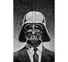 Darth Vader portrait - Fingerprint drawing Photographic Print