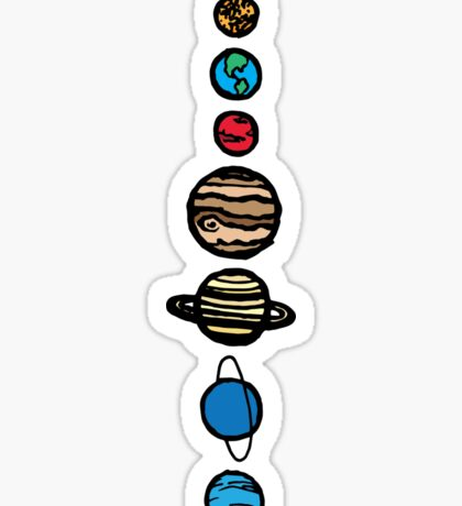 Planets Colour Sticker