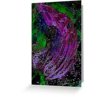 Cosmic Electrical Purple Squid  Greeting Card