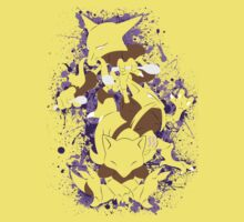 Abra, Kadabra, Alakazam Splatter One Piece - Short Sleeve