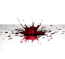 Blood, the fluid of life Photographic Print