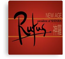 Rufus President of Shinra Campaign Logo - Final Fantasy VII Canvas Print