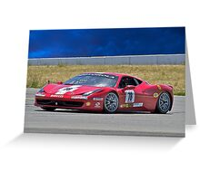 Ferrari F458 No 78 Greeting Card
