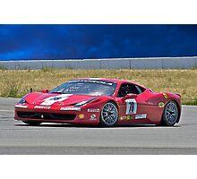 Ferrari F458 No 78 Photographic Print