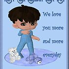 Baby Boy First Birthday Card by Vickie Emms
