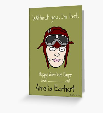 Amelia Earhart Greeting Card