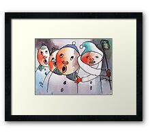 Freezing Nuts Framed Print