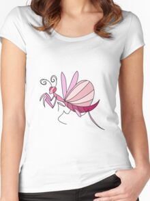 Pink Orchid Mantis Women's Fitted Scoop T-Shirt