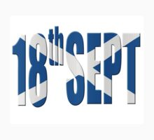 18th Sept referendum for Scottish independence.  by stuwdamdorp