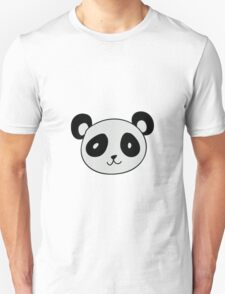 Cute Panda Face Unisex T-Shirt