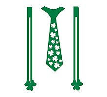 St. Patricks day tie suspender Photographic Print