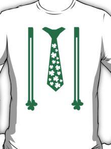 St. Patricks day tie suspender T-Shirt