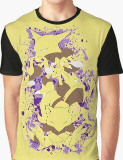 Abra, Kadabra, Alakazam Splatter Graphic T-Shirt