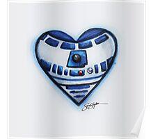 R2D2 Star Wars Heart Poster