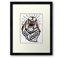 Autism Awareness Live Loud Tiger Framed Print