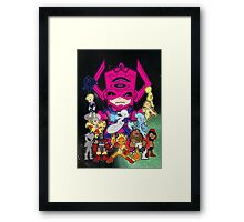Lil Galactus and his Heralds Framed Print