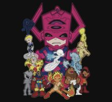 Lil Galactus and his Heralds by TopNotchy