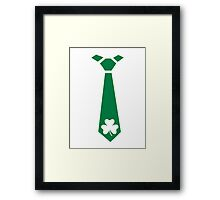 Shamrock tie St. Patrick's day Framed Print