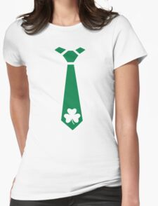 Shamrock tie St. Patrick's day Womens Fitted T-Shirt