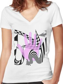 Arrow Hand Women's Fitted V-Neck T-Shirt