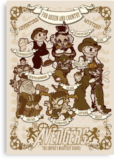 Lil steampunk Avengers by TopNotchy