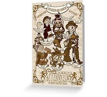 Lil steampunk Avengers Greeting Card