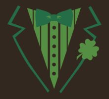 St. Patrick's day tuxedo bow tie by Designzz