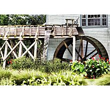 Amish Watermill Photographic Print