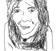 Female Head portrait V1: Oun Phea -(070214)- Digital artwork/MS Paint by paulramnora